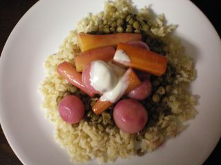 Radishes and Carrots with Creme Fraiche